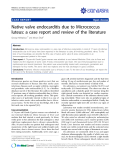 "Báo cáo y học: ""Native valve endocarditis due to Micrococcus luteus: a case report and review of the literature"""