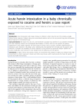 "Báo cáo y học: ""Acute heroin intoxication in a baby chronically exposed to cocaine and heroin: a case report"""