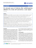 "Báo cáo khoa học: ""An unusual cause of chyluria after radiofrequency ablation of a renal cell carcinoma: a case report"""