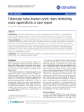 "Báo cáo y học: ""Tubercular tubo-ovarian cystic mass mimicking acute appendicitis: a case report"""
