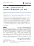 """Báo cáo y học: """"A modified surgical technique in the management of eyelid burns: a case series"""""""