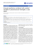 "báo cáo khoa học: ""Unusual exanthema combined with cerebral vasculitis in pneumococcal meningitis: a case report"""