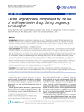"báo cáo khoa học: ""Carotid angiodysplasia complicated by the use of anti-hypertensive drugs during pregnancy: a case report"""