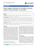 "báo cáo khoa học: "" Novel surgical technique for complete traumatic rupture of the pancreas: A case report"""