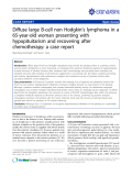 """báo cáo khoa học: """" Diffuse large B-cell non Hodgkin's lymphoma in a 65-year-old woman presenting with hypopituitarism and recovering after chemotherapy: a case report"""""""