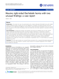 """báo cáo khoa học: """"Massive right-sided Bochdalek hernia with two unusual findings: a case report"""""""