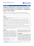 "báo cáo khoa học: ""Multiple Scedosporium apiospermum abscesses in a woman survivor of a tsunami in northeastern Japan: a case report"""