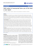 "Báo cáo y học: "" Solid variant of aneurysmal bone cyst of the heel: a case report"""
