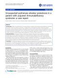 "báo cáo khoa học: ""Unsuspected pulmonary alveolar proteinosis in a patient with acquired immunodeficiency syndrome: a case report"""