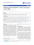 "Báo cáo y học: ""Treatment of stasis dermatitis using aminaphtone: Collapsing glomerulopathy in sickle cell disease: a case report"""
