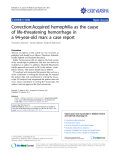 "Báo cáo y học: "" Treatment of stasis dermatitis using aminaphtone: Correction:Acquired hemophilia as the cause of life-threatening hemorrhage in a 94-year-old man: a case report"""