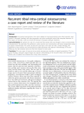 """Báo cáo y học: """"Recurrent tibial intra-cortical osteosarcoma: a case report and review of the literature"""""""
