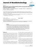 """báo cáo khoa học: """"Mechanistic aspects of biosynthesis of silver nanoparticles by several Fusarium oxysporum strains"""""""