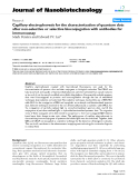 """báo cáo khoa học: """"Capillary electrophoresis for the characterization of quantum dots after non-selective or selective bioconjugation with antibodies for immunoassay"""""""