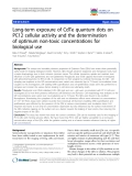 """báo cáo khoa học: """"Long-term exposure of CdTe quantum dots on PC12 cellular activity and the determination of optimum non-toxic concentrations for biological use"""""""