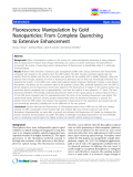 """báo cáo khoa học: """"Fluorescence Manipulation by Gold Nanoparticles: From Complete Quenching to Extensive Enhancement"""""""