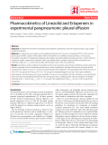 "Báo cáo y học: ""Pharmacokinetics of Linezolid and Ertapenem in experimental parapneumonic pleural effusio"""