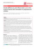 "Báo cáo y học: ""Gender differences and inflammation: an in vitro model of blood cells stimulation in prepubescent children"""