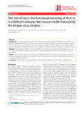 "Báo cáo y học: ""The role of Qa-2, the functional homolog of HLA-G, in a Behcet's disease-like mouse model induced by the herpes virus simplex"""