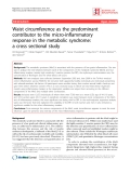 "Báo cáo y học: ""Waist circumference as the predominant contributor to the micro-inflammatory response in the metabolic syndrome: a cross sectional study"""