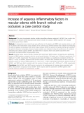 "Báo cáo y học: ""Increase of aqueous inflammatory factors in macular edema with branch retinal vein occlusion: a case control study"""
