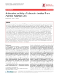 "Báo cáo y học: ""Antioxidant activity of tuberosin isolated from Pueraria tuberose Linn"""