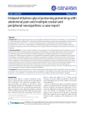 "Báo cáo y học: ""Delayed ethylene glycol poisoning presenting with abdominal pain and multiple cranial and peripheral neuropathies: a case report"""