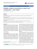 "Báo cáo y học: ""Multiple myeloma presenting as spinal cord compression: a case report"""