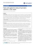 "Báo cáo y học: ""Fatal cold agglutinin-induced haemolytic anaemia: a case report"""