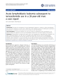 """Báo cáo y học: """"Acute lymphoblastic leukemia subsequent to temozolomide use in a 26-year-old man: a case report."""""""