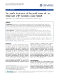 "báo cáo khoa học: "" Successful treatment of desmoid tumor of the chest wall with tranilast: a case report"""