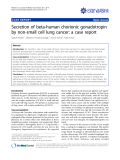 "báo cáo khoa học: ""Secretion of beta-human chorionic gonadotropin by non-small cell lung cancer: a case report"""