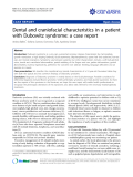 "báo cáo khoa học: "" Dental and craniofacial characteristics in a patient with Dubowitz syndrome: a case report"""