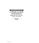 THE HANDBOOK OF CHEMICAL RISK ASSESSMENT Health Hazards to Humans, Plants, and Animals - PART 1