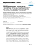 Patterns of research utilization on patient care units