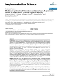 Healthcare professionals' intentions and behaviours: A systematic review of studies based on social cognitive theories