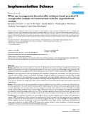 """Báo cáo y học: """"What can management theories offer evidence-based practice? A comparative analysis of measurement tools for organisational context"""""""