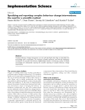"""Báo cáo y học: """"Specifying and reporting complex behaviour change interventions: the need for a scientific method"""""""