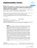 "Báo cáo y học: "" Barriers and facilitators to evidence based care of type 2 diabetes patients: experiences of general practitioners participating to a quality improvement program"""