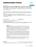 """Báo cáo y học: """"Development of a synoptic MRI report for primary rectal cancer"""""""