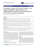 "Báo cáo y học: "" A systematic review of the use of theory in the design of guideline dissemination and implementation strategies and interpretation of the results of rigorous evaluations"""