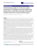 "Báo cáo y học: ""Understanding uptake of continuous quality improvement in Indigenous primary health care: lessons from a multi-site case study of the Audit and Best Practice for Chronic Disease project"""