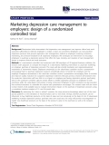 "Báo cáo y học: ""Marketing depression care management to employers: design of a randomized controlled trial"""