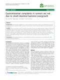 """Báo cáo khoa hoc:""""   Gastrointestinal complaints in runners are not due to small intestinal bacterial overgrowth"""""""
