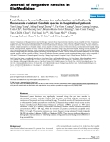 """Báo cáo khoa hoc:""""   Host factors do not influence the colonization or infection by fluconazole resistant Candida species in hospitalized patients"""""""