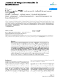 "Báo cáo khoa hoc:""   Evidence against PALB2 involvement in Icelandic breast cancer susceptibility"""