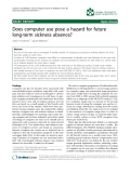 """Báo cáo khoa hoc:""""  Does computer use pose a hazard for future long-term sickness absence?"""""""
