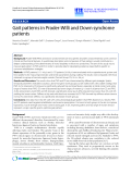 "Báo cáo khoa hoc:""  Gait patterns in Prader-Willi and Down syndrome patients"""