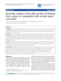 "Báo cáo khoa hoc:""  Kinematic analysis of the daily activity of drinking from a glass in a population with cervical spinal cord injury"""