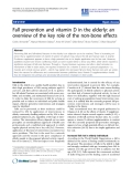 "Báo cáo khoa hoc:""  Fall prevention and vitamin D in the elderly: an overview of the key role of the non-bone effects"""